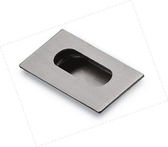 Stainless steel concealed cabinet handle